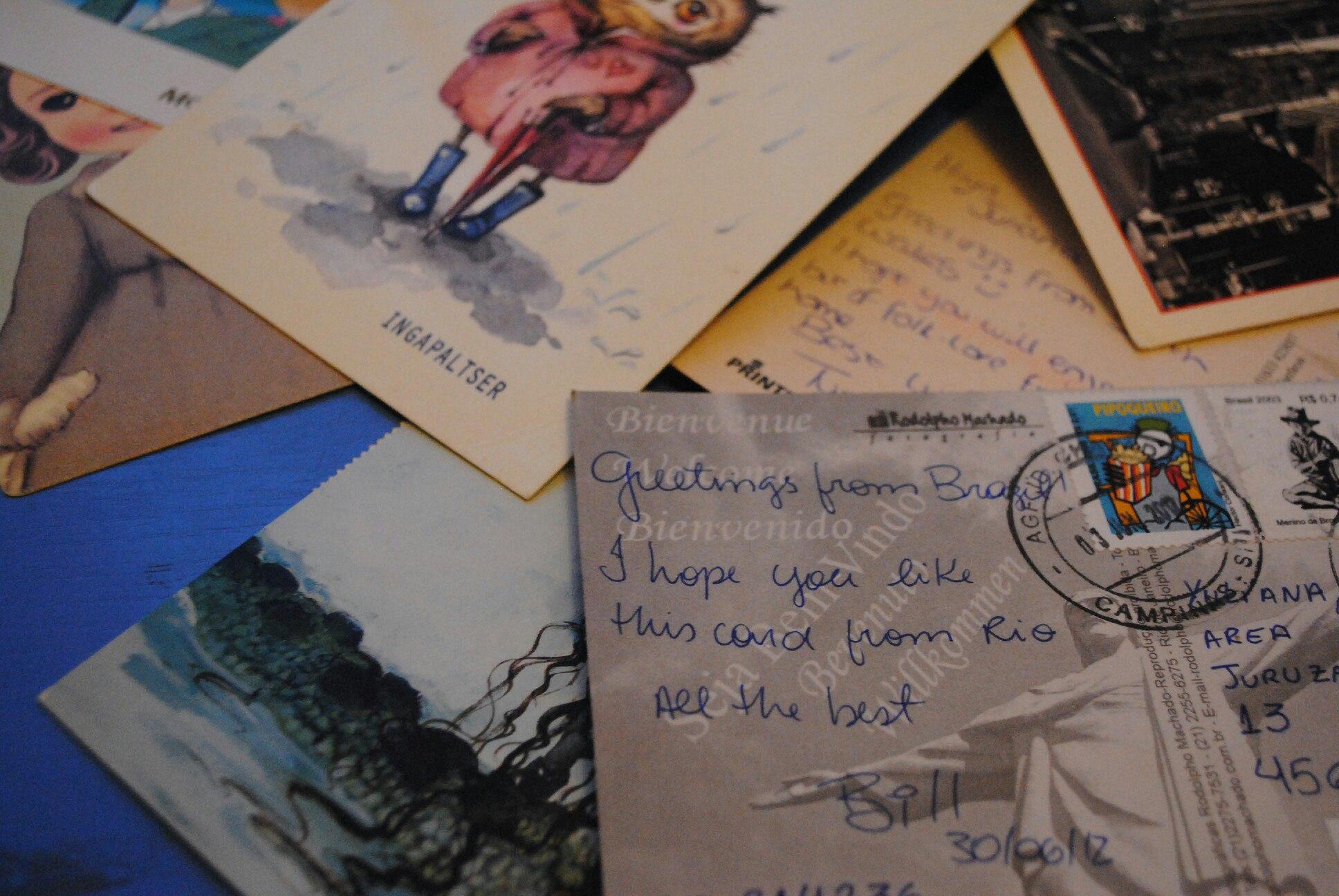 По открытке  всему свету
