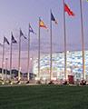 Возвращённые флаги Олимпийского парка