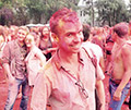 На фестивале красок Холи. Москва