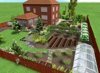 План огорода составляем зимой