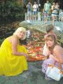 Священные рыбы в парке «шоу-проекта `Фантазия`»