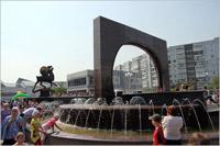 После реконструкции в Солнечном открылся сквер. С фонтаном